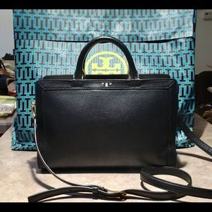 Tory Burch Leather Jessica Crossbody Tote Bag